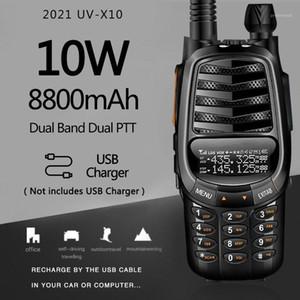 Baofeng UV-X10 10W 8800mAh 2-PDual Band VHF UHF USB Charger Walkie Talkie 30km Ham CB 2 Way Radio Portable Transceiver UV-5R1