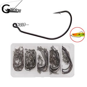 50pcs wide carbon steel fishing hook with 1   0 \ \ 355; - 5