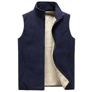 Mens Vests Casual Winter Fleece Warm Waistcoats Fashion Thermal Vests Sleeveless Jackets Windbreaker Clothing 8XL