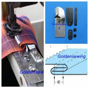 SIDE SEAM FOLDER LAP SEAM FOR ARM TO هيئة FLAT BED ماكينة الخياطة JUKI BROTHER SINGER الرجاء اختيار حجم أراد
