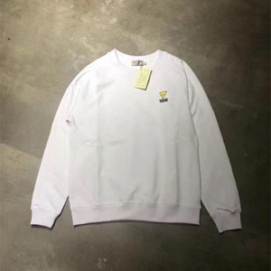 Maison Kitsune Men Donne Felpe in cotone Casual Allentato Top Quality Triangolo Triangolo Logo Ricamo Maison Kitsune Hoodie # fk3c