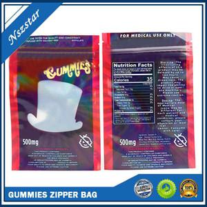 Wonka Gummies Mylar Çanta 500mg Yemekleri Fermuar Kılıfı SmeProof Depolama Perakende Çantası