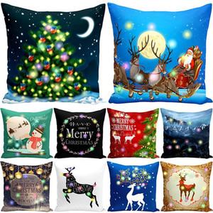 Christmas LED Pillowcase Lantern Christmas Decorations Christmas Luminous Pillowcase Creative Super Soft Pillow Cover 45*45cm XD24005