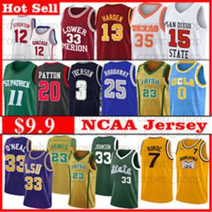 NCAA Basketball James Davis Trikots Wade Durant Irving Embiid Simmons AntetokounMPO 23 Michael Mitchell Carter O'Neal