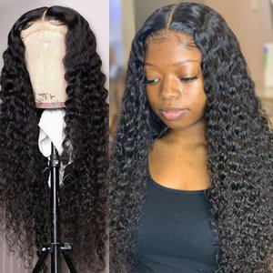 Lace Wigs 26 28 30 40 Inch Brazilian Water Wave Curly 13x4 Front Human Hair Deep Remy Long Frontal Wig For Black Women