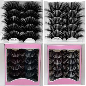 New 5 Pairs 8D mink Lashes Hair False Eyelashes Criss Cross Fluffy Thick Long Eyelashes Handmade Eye Beauty Makeup 25mm Extension