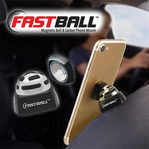 Fastball Car Cell Phone Holder 360 Degree Car Magnetic Cell Phone Holder Steel Ball Ultra-thin Magnetic Mount DHL