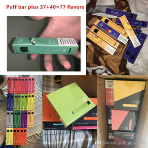 Mais novo 37+ Cores Puff Bar Plus Descartável Fluxo Puff Plus 3.2ml Pré-preenchido Pod 550mAh Battery Stick Style Dispositivo descartável Portátil