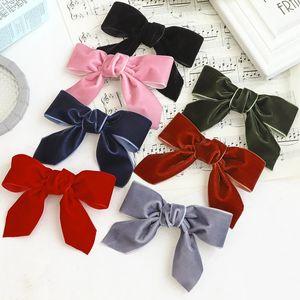 10 pz Donne Archi HairClips Decorato Capelli Capelli Nuovo Bowknot Velvet HairGrips Coreano Moda Capelli Barrette Capelli Ragazze Accessori per capelli