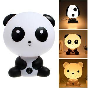 Night Sleeping Lamp Baby Room Panda Rabbit Dog Bear Cartoon Light Kids Bed Decoration Lamp For Kids Baby Night Light Gift C1007