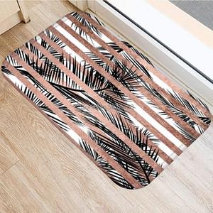 1pcs 40*60cm Stone Stripe Marble Pattern Anti-Slip Suede Carpet Door Mat Doormat Outdoor Kitchen Living Room Floor Mat Rug 48276