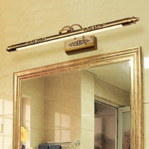 Retro Cosmetic Mirror lamp 500mm 8W LED European makeup Light Vanity Bathroom Wall lights Bronze Cabinet lighting Decoration 1020