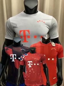 Versione del giocatore Bayern Gnabry Sane Lewandowski Muller Kimmich Munich Soccer Jerseys 2020 2021 Camicia da calcio