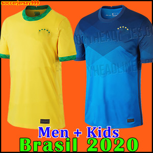 Brezilya BREZİLYA NERES futbol forması camiseta de futebol 2020 2021 G.JESUS COUTINHO 20 21 futbol forması Erkekler + Çocuk seti üniforma