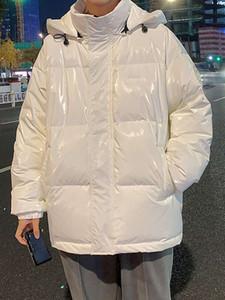 Nuovo 2021 Big Size Bianco Anatra Brillante Guarnizione Giacca Giacca Giacca Freddo Caldo Gloss Piuma Vendita calda Spedizione gratuita