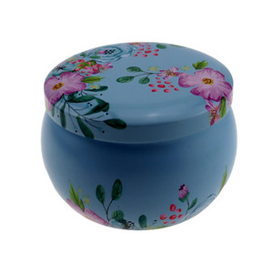 Round Drum Surface Candle Jars Box Tinplate Iron Jug Case Wax Concentrate Lash Packaging Container Multi Patterns Custom 1 55ss B2