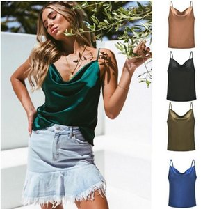 Mode Womens Camisole Camis Tanks Sexy Mesdames Silk Gallus Taille S-XXL