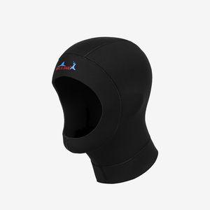 2MM chapeau de plongée en néoprène tissu professionnel uniex NCR bonnet froid hiver preuve tête casque couverture wetsuits maillot de bain 1pc
