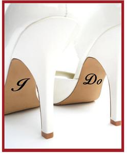 Je fais et moi aussi mariage chaussures Decal / mariage chaussures autocollant / personnalisé Sticker personnalisé autocollant Y170820