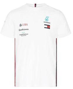 2019 de Fórmula 1 F1 Team T-shirt Hamilton / Bottas Team Edition de secagem rápida de secagem rápida Top manga curta