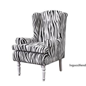 Trecho Asa Chair Covers Elegant Feather Floral Impresso Poltrona Covers Elastic Wingback Chair Slipcovers Non-Slip Poltrona capa protetora