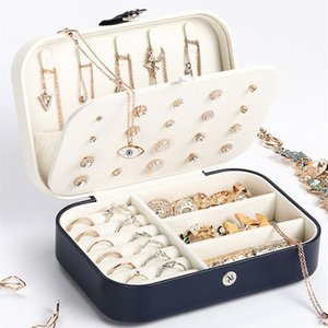 High Quality PU Leather Earring Storage Box Portable Design Newest Jewelry Portable Detachable Jewelry Organizer Clamshell box