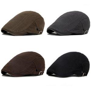 Newsboy Hat Men Platte Petten Voor Mannen Gentleman Hat Men's Retro Casual Breve Ivy Newsboy Conducción Piso Sombreros Caps Men1