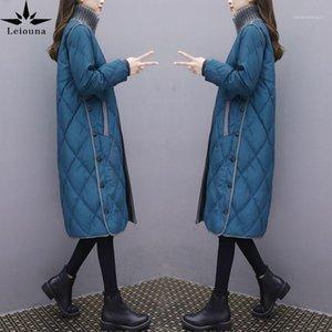 Leiouna Long Slim Casual Plus Tamaño 2021 Nueva Moda Mujer cálida abrigo de invierno Parkas CHILETS CHAPETED CHAPETS FEMINA FEMININA1
