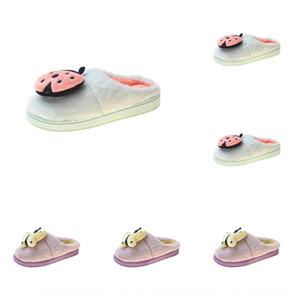 ka41s Chaussures d'été isolés chaussures Non- automne shoesand antidérapante 2020 Antiderapant talon semelle demi-sac pantoufles en coton maison chaud insecte femelle