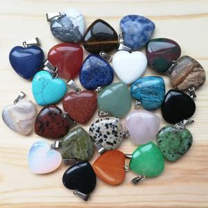Heiße futubaoying herzform liebe edelstein gemischt anhänger lose perlen für armbänder und halskette charms diy schmuck für frauen geschenk frei