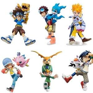 Новые японские аниме цифровые приключения Ishida Yamato Gabumon Yagami Taichi Agumon Hikari Sora PVC Digimon 201202