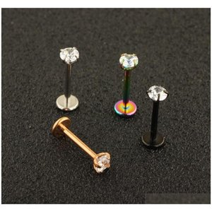 Surgical Stainless Steel Eyebrow Nose Lip Captive Bead Ring Tongue Piercing Tragus Cartilag sqcLVt dh_seller2010
