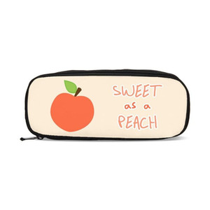 Sweet Wallet Shcool Peach Kids Pen Bag Pink Coin Case Cosmetic Girls Boys Necessarie Pouch Purse Stationery Kawaii Pencil Nwrtg