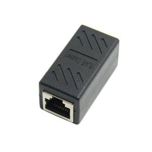 100pcs   lots CAT6 RJ45 Female to Female Lan Connector Ethernet Network Cable Extension coupler Adapter With Shield