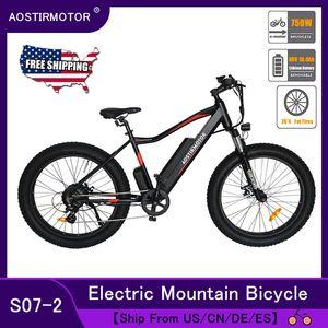 AOSTIRMOTOR Электрический велосипед 750W 4,0 Fat Tire Электрический Пляж велосипед Горный велосипед 48V 10.4Ah литиевая батарея Мужчины Женщины Ebike