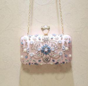 Borse della frizione delle donne del diamante bianco per le donne della borsa della borsa della borsa della borsa della borsa della borsa della borsa della borsa della borsa delle donne Borse da sposa da sposa 5555