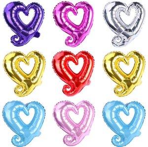 18 polegadas gancho forma coração alumínio balões de alumínio festa de casamento decoração dia dos namorados dia dos namorados festa de bebê balões de ar sn1902
