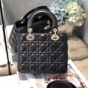2020 Designer Donne Borsa a spalla Borsa per padlock Canvas Genuine Pelle Stripes Distressed Fashion Handbag