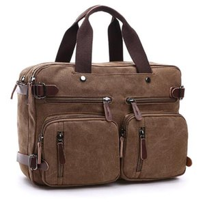 Men's Bag Canvas Satchel Shoulder Bag Large Capacity Multi-pocket Handbag Messenger Men Bolsa Feminina Sac Crossbody Bags