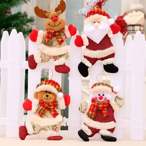 Christmas Tree Creative Doll Pendant Christmas Dolls Christmas Decorations Dancing Cloth Puppets Hanging Pendant Gifts DHL Free