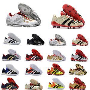 Sıcak Klasikler Predator Accelerator Elektrik Hassas Mania FG Beckham DB Zidane ZZ 1998 Erkekler Futbol Ayakkabı Cleats Futbol Çizmeler Boyutu 39-45