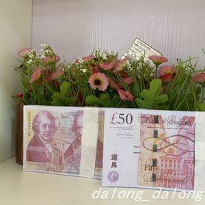 UK Pound Video Desk Money Handmake Craft Creative Accueil Décorations de la maison Télévision Movie Simulation Billet de banque papier Livraison Gratuite