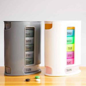 Comprimido organizador comprimido pro armazenamento caso compacto organizar mini comprimidos caixa de armazenamento da caixa de armazenamento da medicina DHL Fast entrega rápida