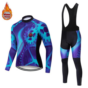 Teleyi 2021 Pro Winter Cycling Thermal Jersey Set Keep Warm Racing Bicycle Cycling Clothes MTB Bike Clothing For Men