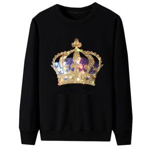 Rhinestone Shirts Pullover Pullover Tops Hot Diamond Long Sleeves Sweatshirts Für Männer Frauen Plus Größe Unisex Mehrere Stile