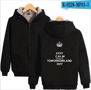 La moda de Nueva personalidad Tomorrowland gruesa caliente creativo cremallera Sudaderas con capucha para hombres, mujeres