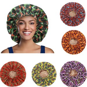 Extra Large Satin Sleep Cap Elastic Band Women African Pattern Print Bonnet Ladies Head Wrap Hat