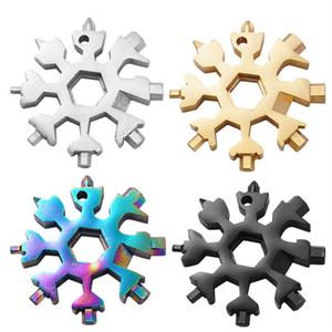 18-in-1-Schneeflocke Multi-Werkzeug 200pcs Edelstahl-Multikarten 6.6cm Kombination Compact bewegliches im Freien Produkt Snowflake-Werkzeug-Karte
