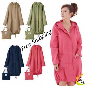 Larga fina impermeable mujeres impermeable capucha luz luz de lluvia ponchos chaquetas capa hembra chubasqueros impermeables mujer1