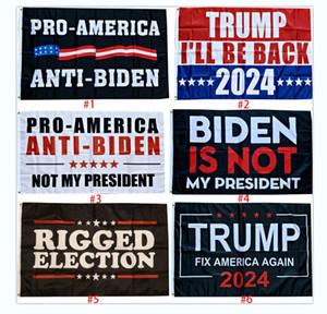 Trump 2024 Flags 90 * 150cm Trump Joe Biden EE. UU. Elección banner 6 Soporte de estilo Personalización de cualquier banner XD24512